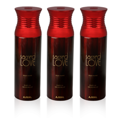 Sacred Love Deodorant  For Women 3 In 1 Pack